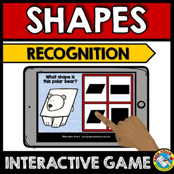 BOOM CARDS SHAPES GAME BUNDLES (WINTER ACTIVITY PRESCHOOL FEBRUARY MATH)