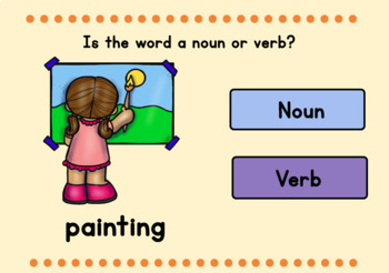 Nouns and Verbs - Back to School Theme - Boom Cards