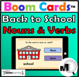 Nouns and Verbs Sort Boom Cards Distance Learning