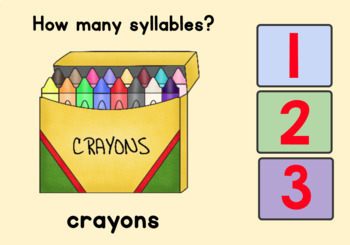 Syllables - Back to School Theme - Boom Cards