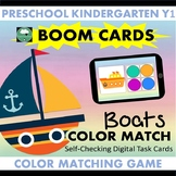 BOOM CARDS™ Boats Color Matching