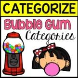 BOOM CARDS: Bubble Gum Categories