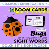 BOOM CARDS™ Bugs SIGHT WORDS - Dolch List 1 Distance Learning