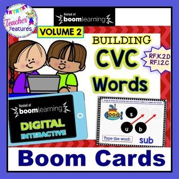 DIGITAL BOOM CARDS READING CVC Words VOLUME 2