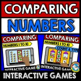 BOOM CARDS KINDERGARTEN COMPARING NUMBERS 1-10 (DIGITAL MATH CENTER ACTIVITIES)