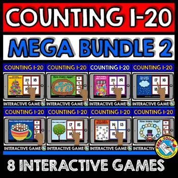 #discountedbundles KINDERGARTEN COUNTING ACTIVITIES 2 BOOM CARDS