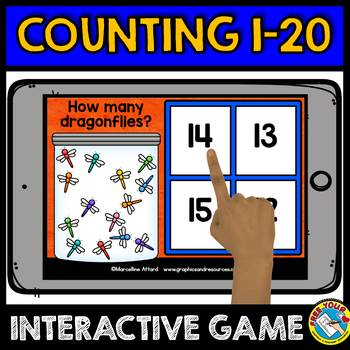 KINDERGARTEN COUNTING ACTIVITIES 2 BOOM CARDS BUNDLE (NUMBERS 1-20 GAMES)