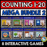 KINDERGARTEN COUNTING ACTIVITIES 2 BOOM CARDS (NUMBERS 1-2