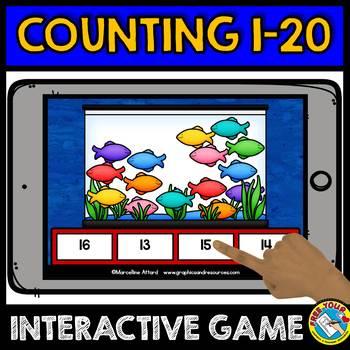 BOOM CARDS COUNTING GAMES MEGA BUNDLE (NUMBERS 1-20 DIGITAL TASK CARDS)