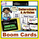 BOOM CARDS GRAMMAR for 1st Grade : Determiners & Articles
