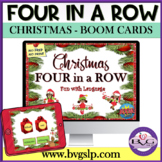 BOOM CARDS Christmas Four in a Row Language Unit - Teletherapy