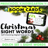 BOOM CARDS™ Christmas SIGHT WORDS - Dolch List 1 Distance