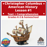 BOOM CARDS! Christopher Columbus ~  Lesson #1 Text & Compr