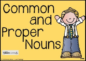 Common and Proper Nouns BOOM CARDS!!!