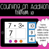 BOOM CARDS Counting On Addition within 10