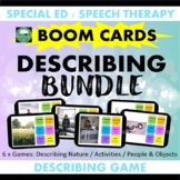 BOOM CARDS™ DESCRIBING Bundle 2 Actions People Nature Objects