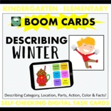 BOOM CARDS™ DESCRIBING Winter Objects