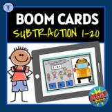 BOOM CARDS:DIGITAL TASK ACTIVITIES SUBTRACTION 1-20