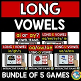 BOOM CARDS DIGITAL VOWEL TEAMS BUNDLE (LONG VOWEL GAMES ACTIVITY) FIRST GRADE