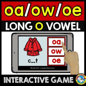 BOOM CARDS DIGITAL VOWEL TEAMS BUNDLE (LONG VOWEL GAMES ACTIVITY) FIRST GRADE