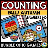 BOOM CARDS DISTANCE LEARNING FALL COUNTING GROWING BUNDLE