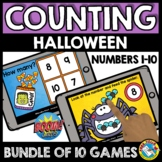 BOOM CARDS DISTANCE LEARNING HALLOWEEN COUNTING GROWING BU