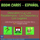 BOOM CARDS Descubre 1 L4 Set 3: Los deportes y lugares (Li