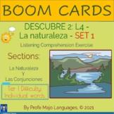 BOOM CARDS: Descubre 2 L4 - La naturaleza Set 1 (Listening