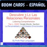 BOOM CARDS: Descubre 3 L1: Listening comprehension for Rel