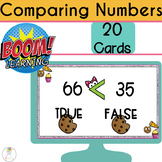 BOOM CARDS Digital Comparing Numbers | Greater Than Less Than
