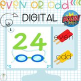 BOOM CARDS Digital Even and Odd Game
