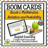 BOOM CARDS Digital Learning Sixth Grade Math Statistics an