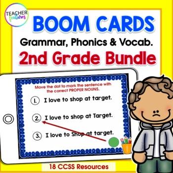 BOOM CARDS GRAMMAR | Word Work Activities | Phonics Centers