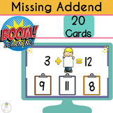BOOM CARDS Digital Missing Addend | Addition Within 20