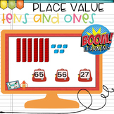 Place Value BOOM Cards Tens and Ones