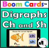 Digraphs Ch and Sh - Boom Cards - Free