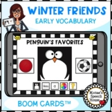 BOOM CARDS™ EARLY VOCABULARY PENGUIN SNOWMAN SPEECH THERAPY
