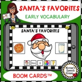 BOOM CARDS™ EARLY VOCABULARY SANTA distance learning SPEEC