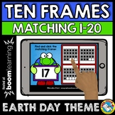 BOOM CARDS EARTH DAY ACTIVITY KINDERGARTEN (COUNTING TEN FRAMES 1-20 GAME)