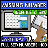 BOOM CARDS EARTH DAY ACTIVITY (KINDERGARTEN HUNDRED CHART MISSING NUMBERS TO 100