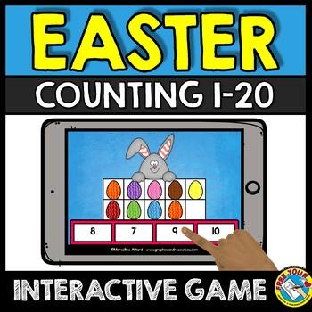 BOOM CARDS EASTER ACTIVITY KINDERGARTEN (COUNTING TEN FRAMES 1-20 GAME)