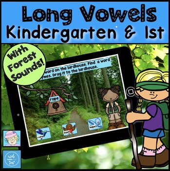 Camping Theme Activities for End of Year Kindergarten First BOOM CARDS READING