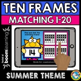BOOM CARDS END OF THE YEAR ACTIVITY KINDERGARTEN (COUNTING TEN FRAMES 1-20 GAME