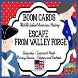 BOOM CARDS Escape from Valley Forge | Grades 5-8 Digital L