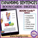 Expanding Sentences | Elaboration Practice BOOM CARDS Tele