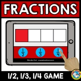 BOOM CARDS FRACTIONS FOR FIRST GRADE (IDENTIFYING FRACTIONS ACTIVITY GAME)