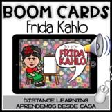 BOOM CARDS FRIDA KAHLO:Comprensión lectura Spanish Cinco Mayo Distance Learning