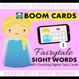 BOOM CARDS™ Fairytale SIGHT WORDS - Dolch List 1 Distance