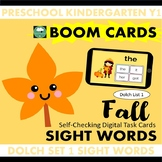 BOOM CARDS™ Fall Autumn SIGHT WORDS - Dolch List 1 Distanc