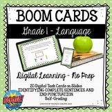 BOOM CARDS - Grades 1-2 Language Arts | Complete Sentences
